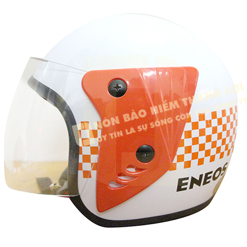 mũ nón bảo hiểm 3/4 đầu quảng cáo Eneos