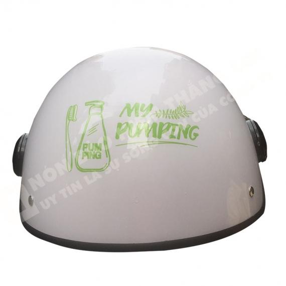 Mũ Bảo Hiểm Nửa Đầu Có Kinh PUMPING