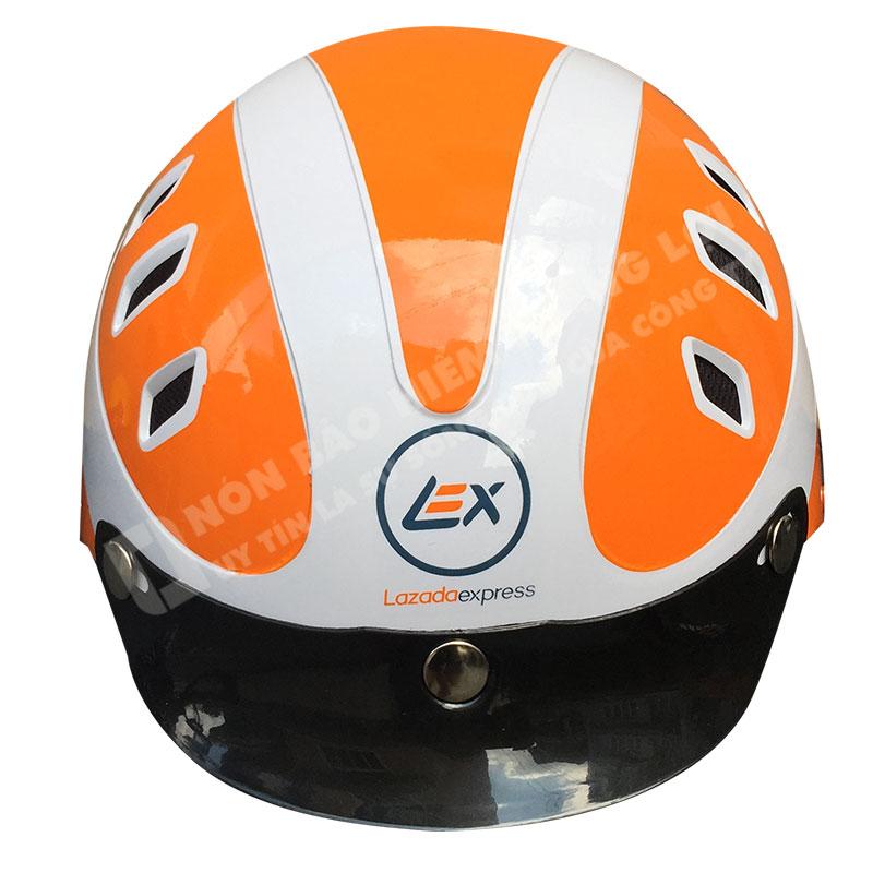 mũ bảo hiểm quảng cáo Lazada