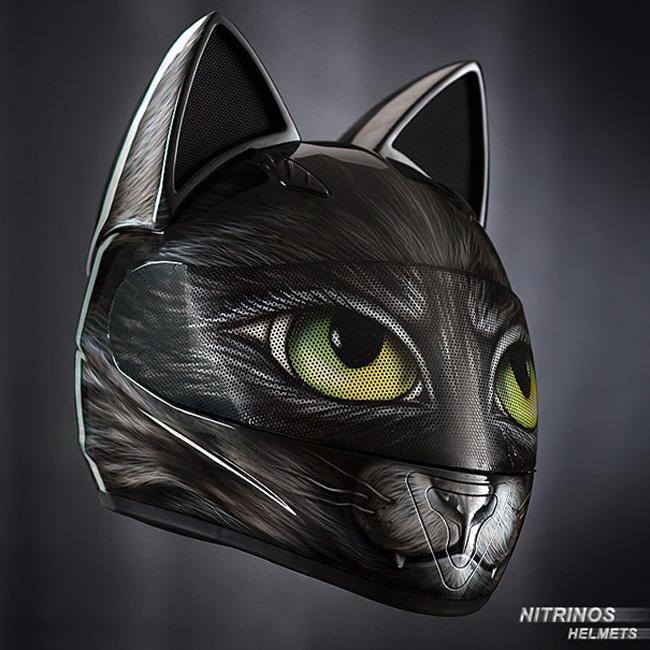 Mũ bảo hiểm đầu mèo