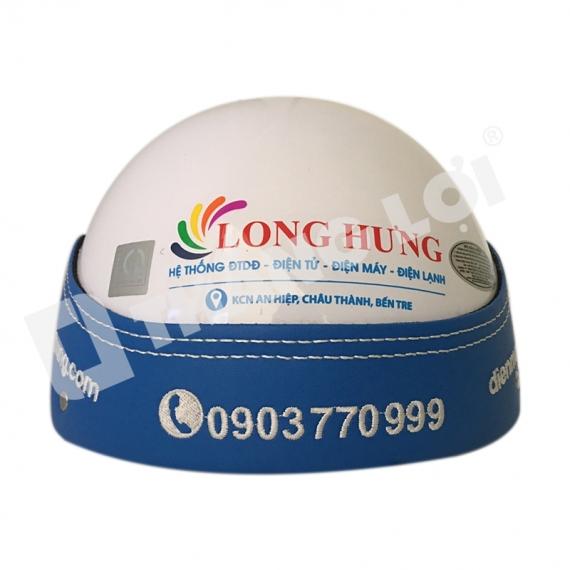 Nón Bảo Hiểm in Logo Long Hưng