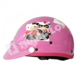 Nón bảo hiểm trẻ em kitty hồng