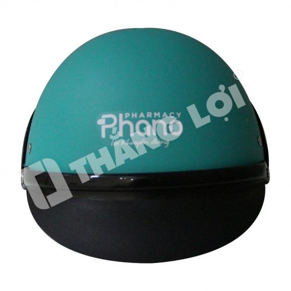 Nón Bảo Hiểm Nửa Đầu Ốp Da Phano