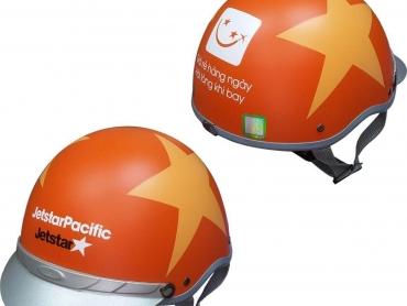 Xưởng chuyên sản xuất nón bảo hiểm quảng cáo