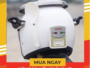 Thiết kế mũ bảo hiểm hình nồi cơm điện có gì đặc sắc?