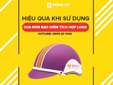 Hiệu quả khi sử dụng của nón bảo hiểm tích hợp logo