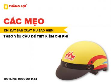 Các mẹo khi đặt sản xuất mũ bảo hiểm theo yêu cầu để tiết kiệm chi phí