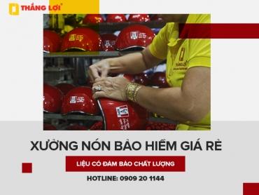 Xưởng nón bảo hiểm giá rẻ liệu có đảm bảo được chất lượng