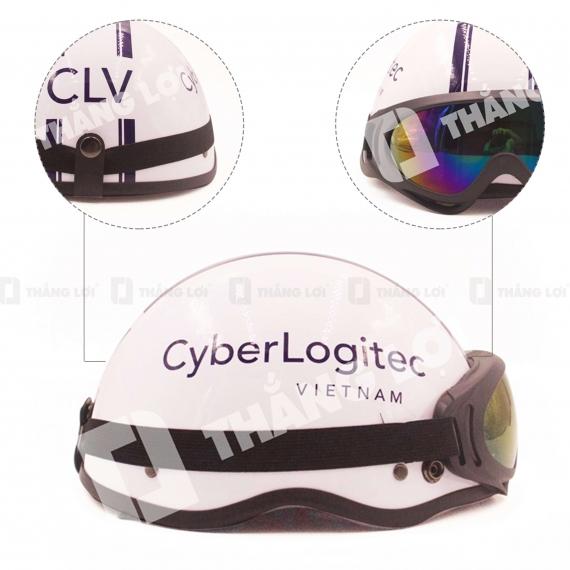 Nón Bảo Hiểm Nửa ĐầuCó Kính CYBER LOGITEC