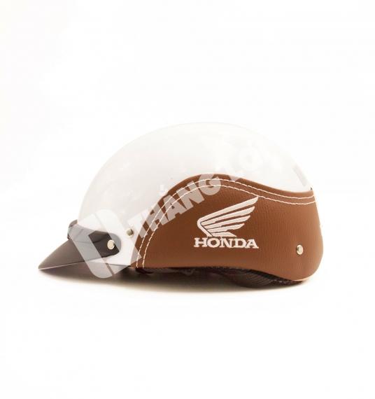 Nón Bảo Hiểm Nửa Đầu Ốp Da Honda