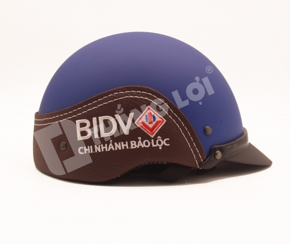 Nón Bảo Hiểm Nửa Đầu Ốp Da BIDV