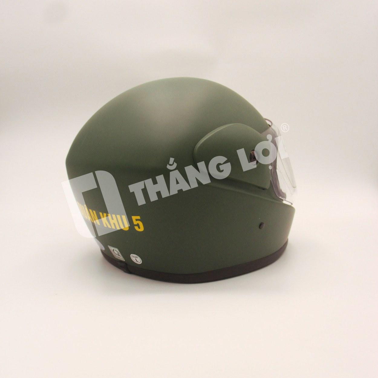 Không quá chú trọng về thiết kế, kiểu dáng, nhưng nón bảo hiểm fullface quân đội quân khu 5 lại được đánh giá rất cao về chất lượng