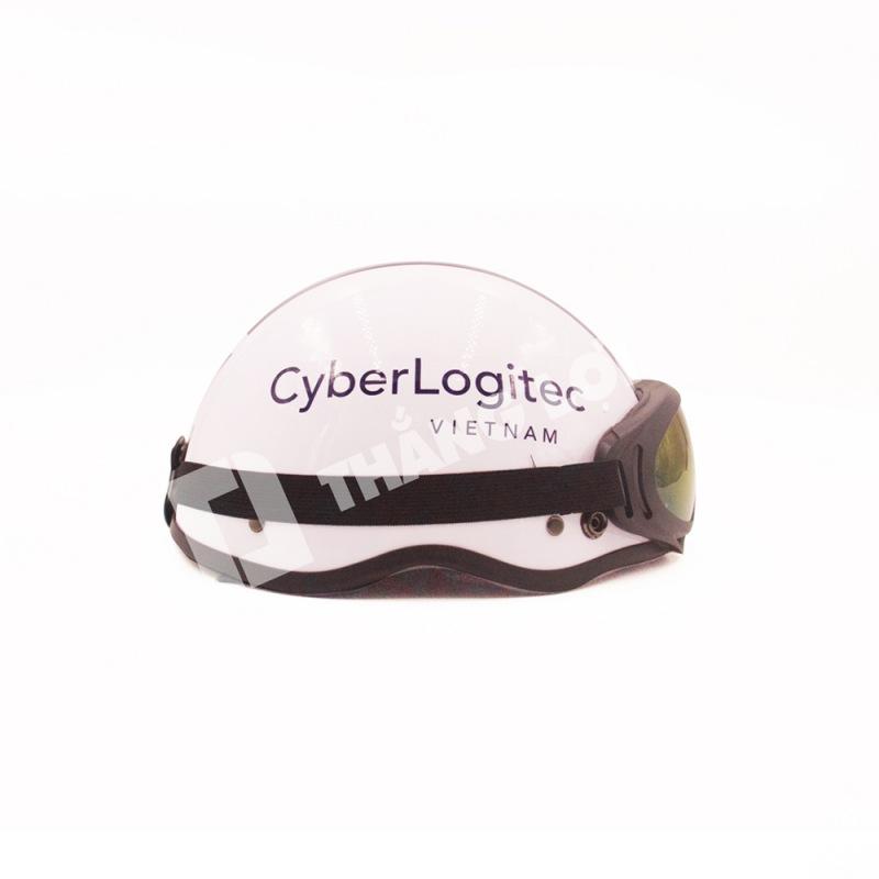 Nón bảo hiểm nửa đầu có kinh Cyber Logitec