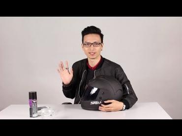 Hướng dẫn xịt phủ nano cho kính mũ bảo hiểm chống nước mưa